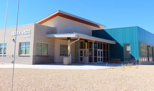 Sierra Vista Primary's new entrances greeted students.