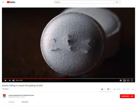 Opioid YouTube video