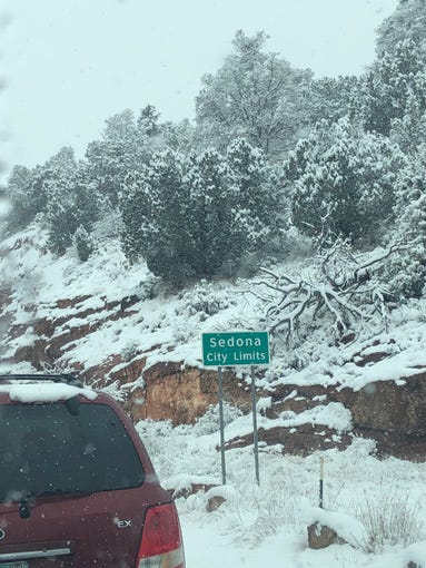 Amber Peters shared this photo of snow in Sedona on Dec. 31, 2018.