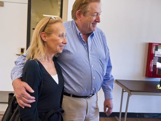 Louise and Sanford Kane smile in May 2011 after parole was denied for their son's killer, Jacob Wideman, at the Arizona Board of Executive Clemency (Parole Board) in Phoenix.