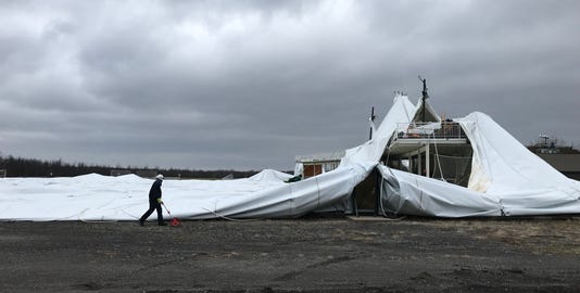 Doug Miller Family Sports Dome collapses
