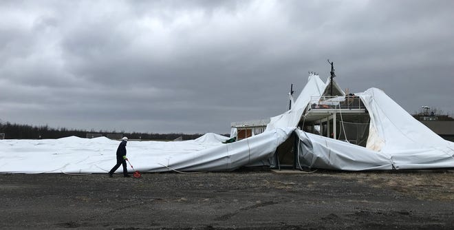 Doug Miller Family Sports Dome, also known as Glacier Ridge Sports Park after it collapsed New Year's Day.
