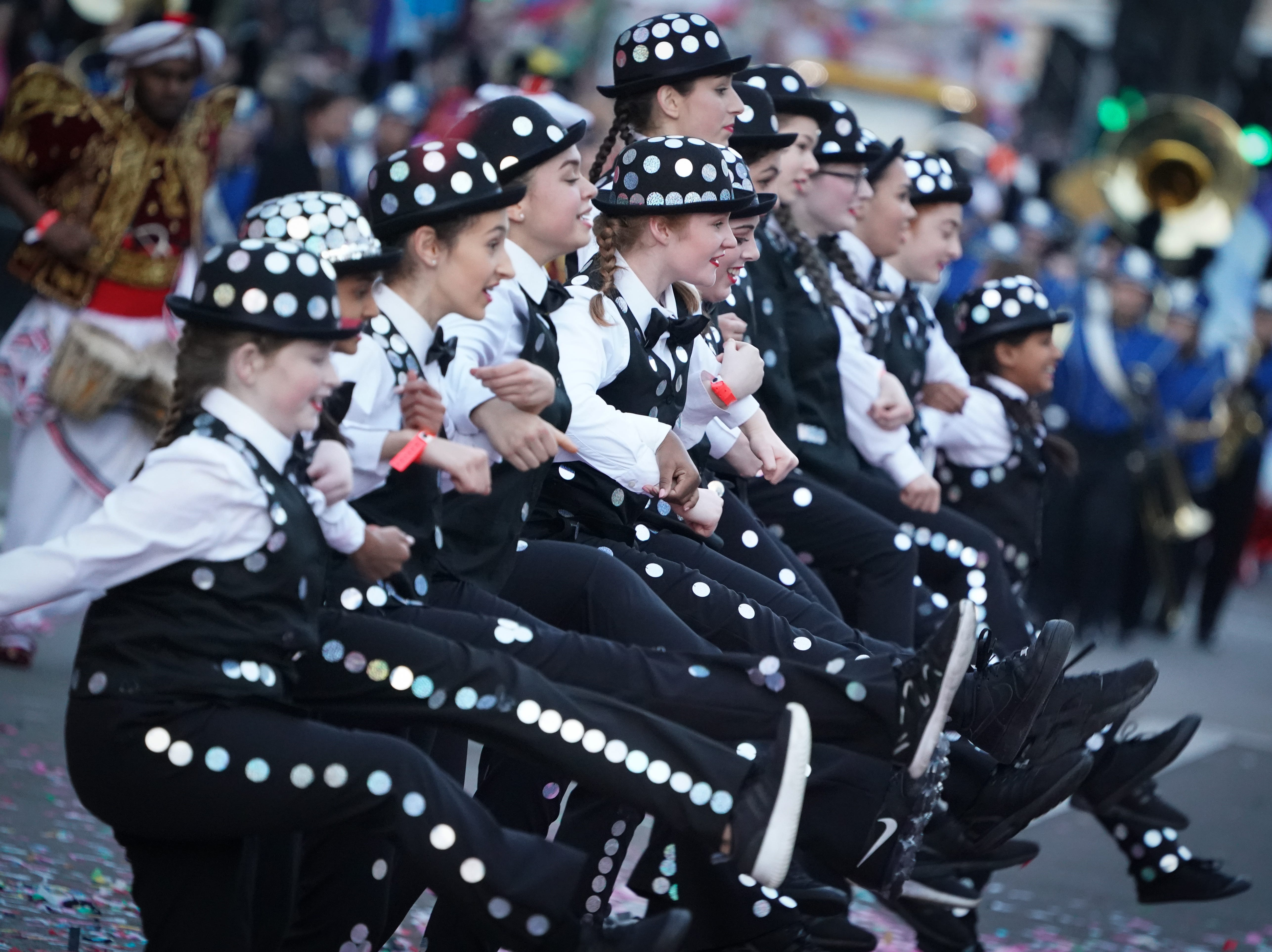 The London New Year's Day Parade takes place January 1, 2019, in the streets on the city's West End. The Vero Beach High School marching band traveled to England to perform, where about 600,000 spectators were expected to fill the streets.