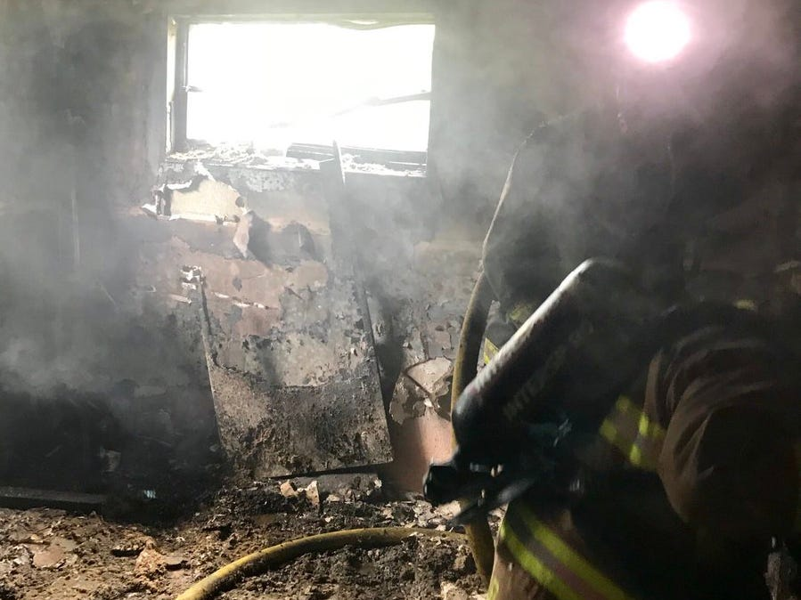 St. Lucie County Fire District crews put out house fire in Fort Pierce on New Year's Day.