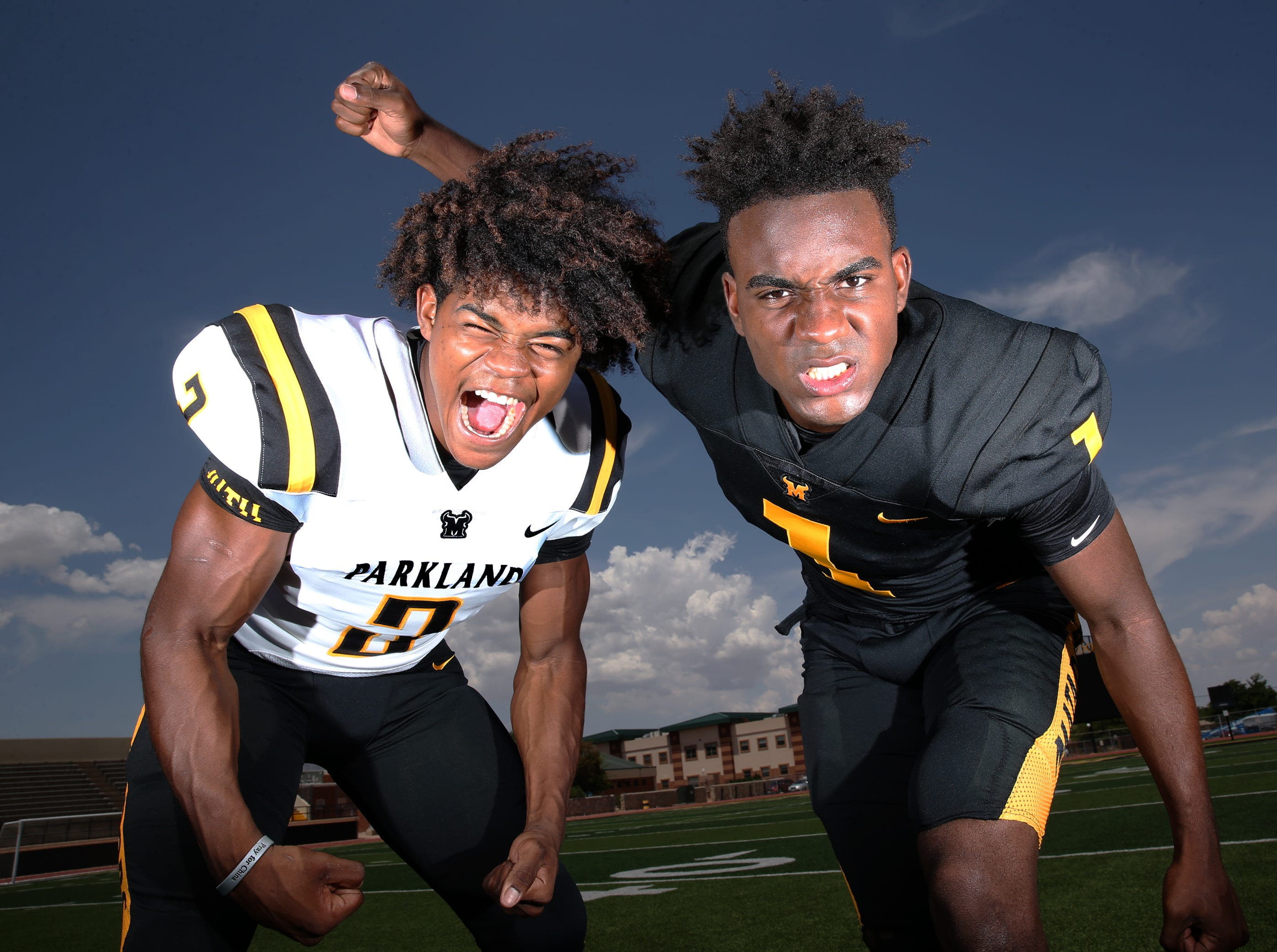 Parkland senior running back Deion Hankins, left, and senior wide receiver Khatib Lyles are two reasons why the Matadores are among the best teams in the city going into the 2018 prep football season.