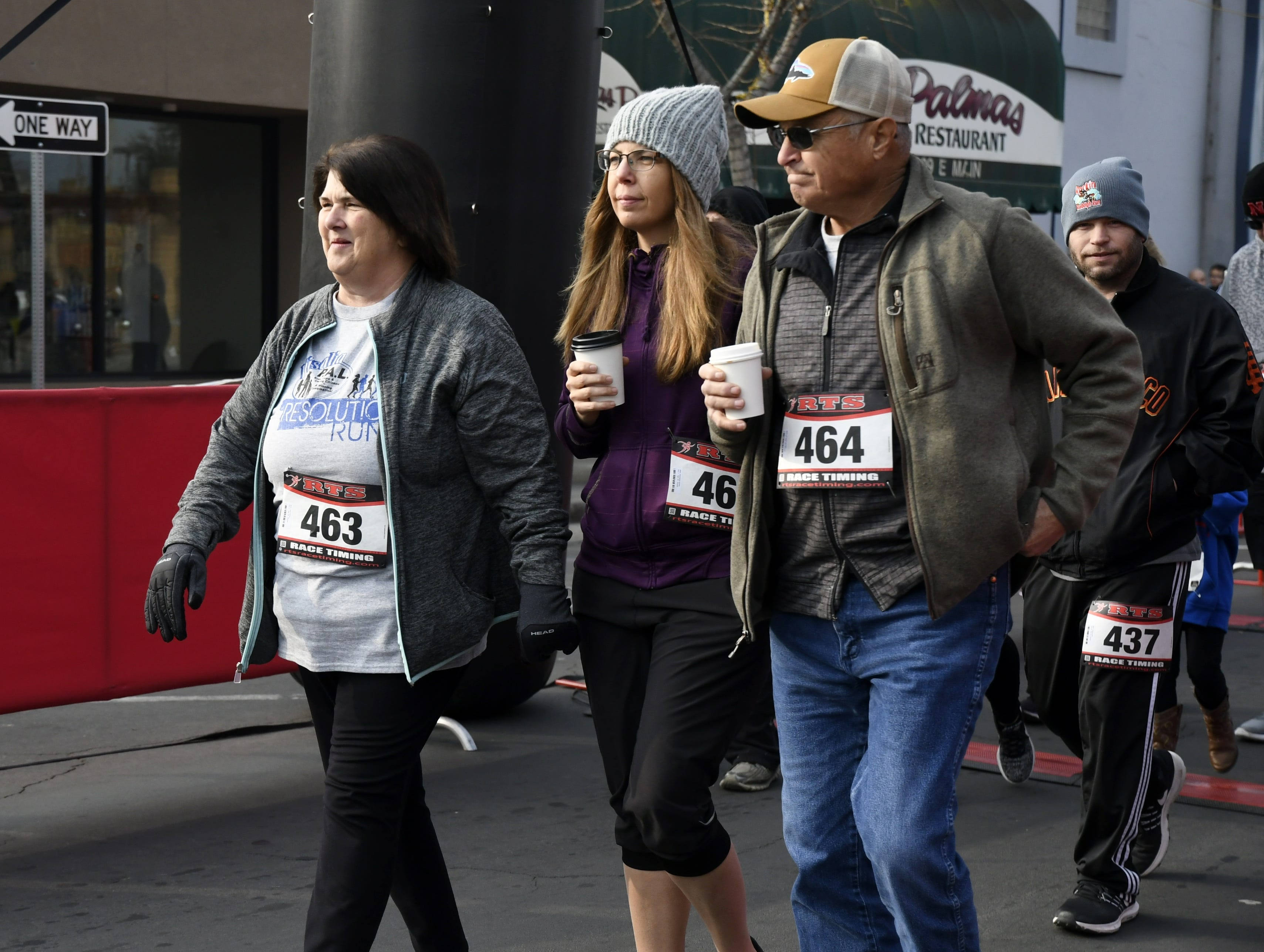 More than 330 runners took to the streets of downtown Visalia for the third annual Visalia PAL Resolution Race on Tuesday, January 1, 2019.