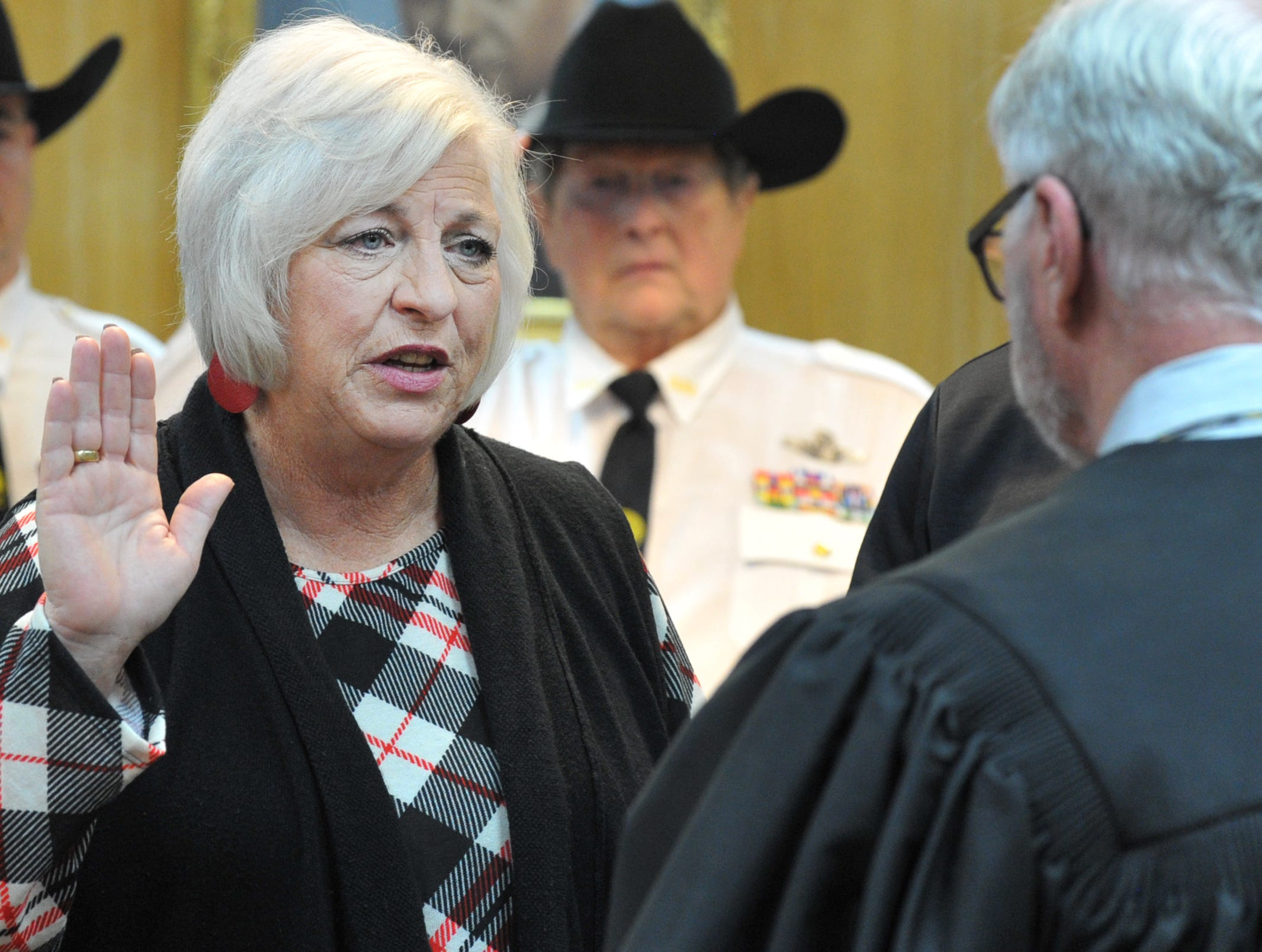 Justice of the Peace Judy was sworn in during a ceremony held in the 30th district courtroom, Tuesday morning.