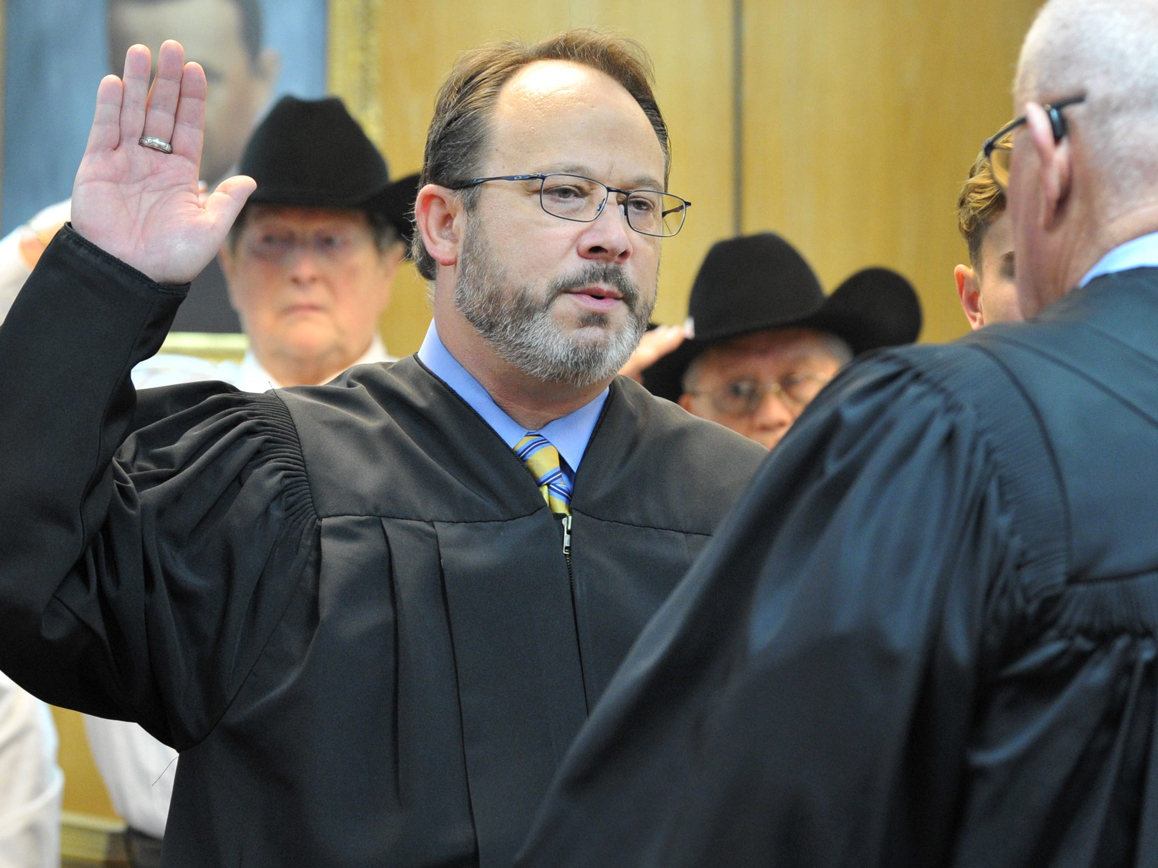 County Court at Law #1, Judge Gary Butler was sworn in during a ceremony held in the 30th district courtroom, Tuesday morning.
