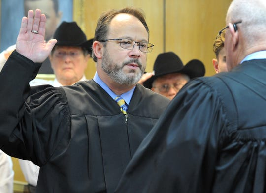 Judge Gary Butler of Wichita County Court at Law No. 1, shown in this Tuesday, Jan. 1, 2019, file photo, was sworn in during a ceremony held in the 30th District courtroom.
