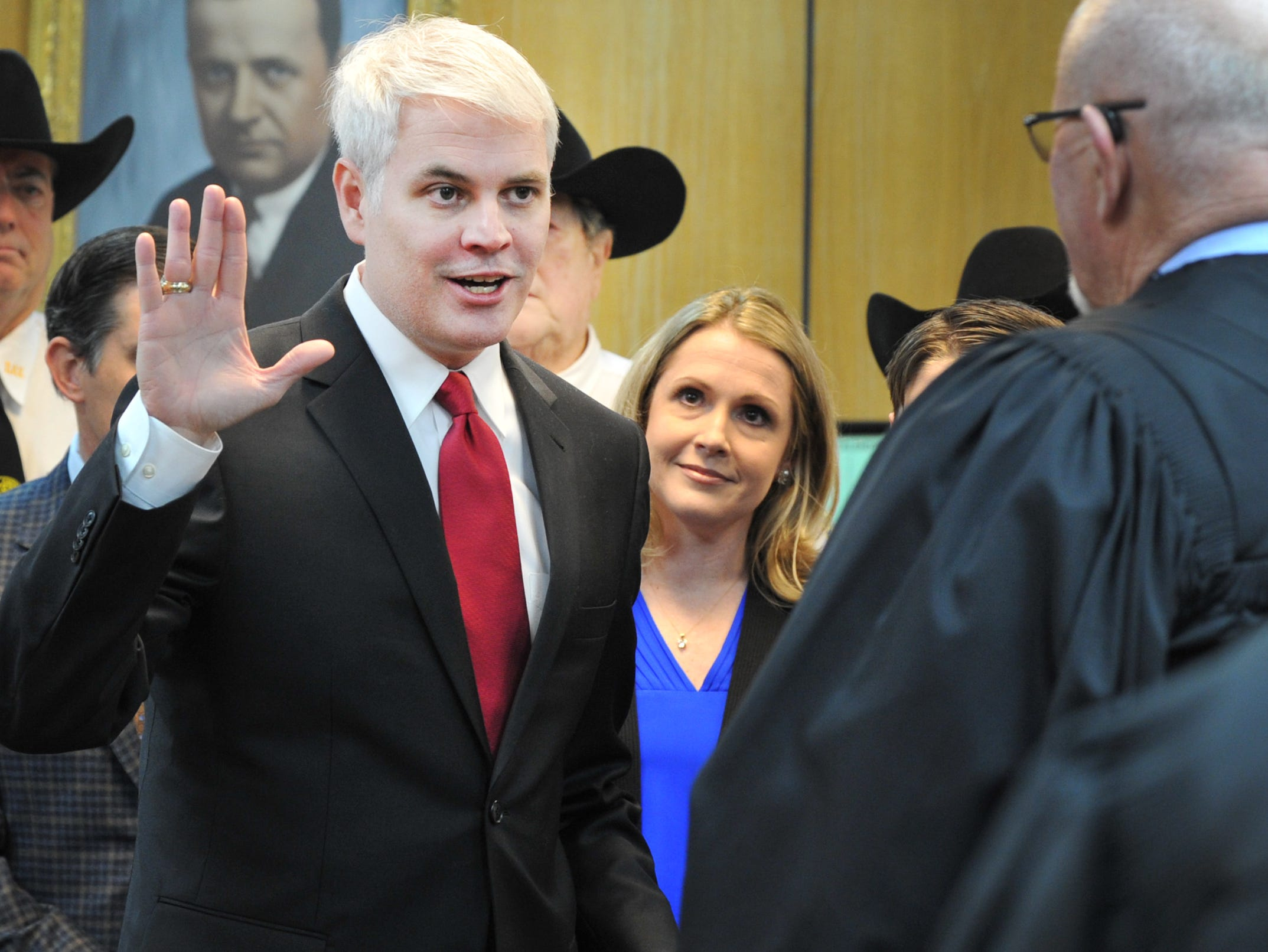 John Gillespie was sworn in as the Wichita County District Attorney Tuesday morning in the 30th district courtroom during a ceremony held in the 30th district courtroom, Tuesday morning.