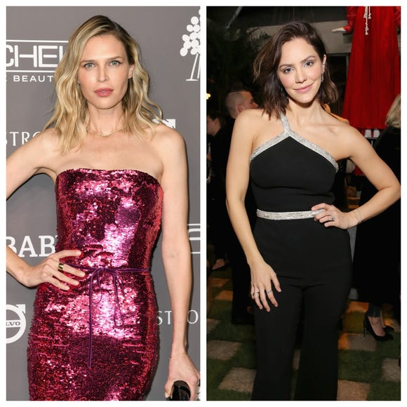 Sara Foster (L) is having fun with her future stepmother, Katharine McPhee.