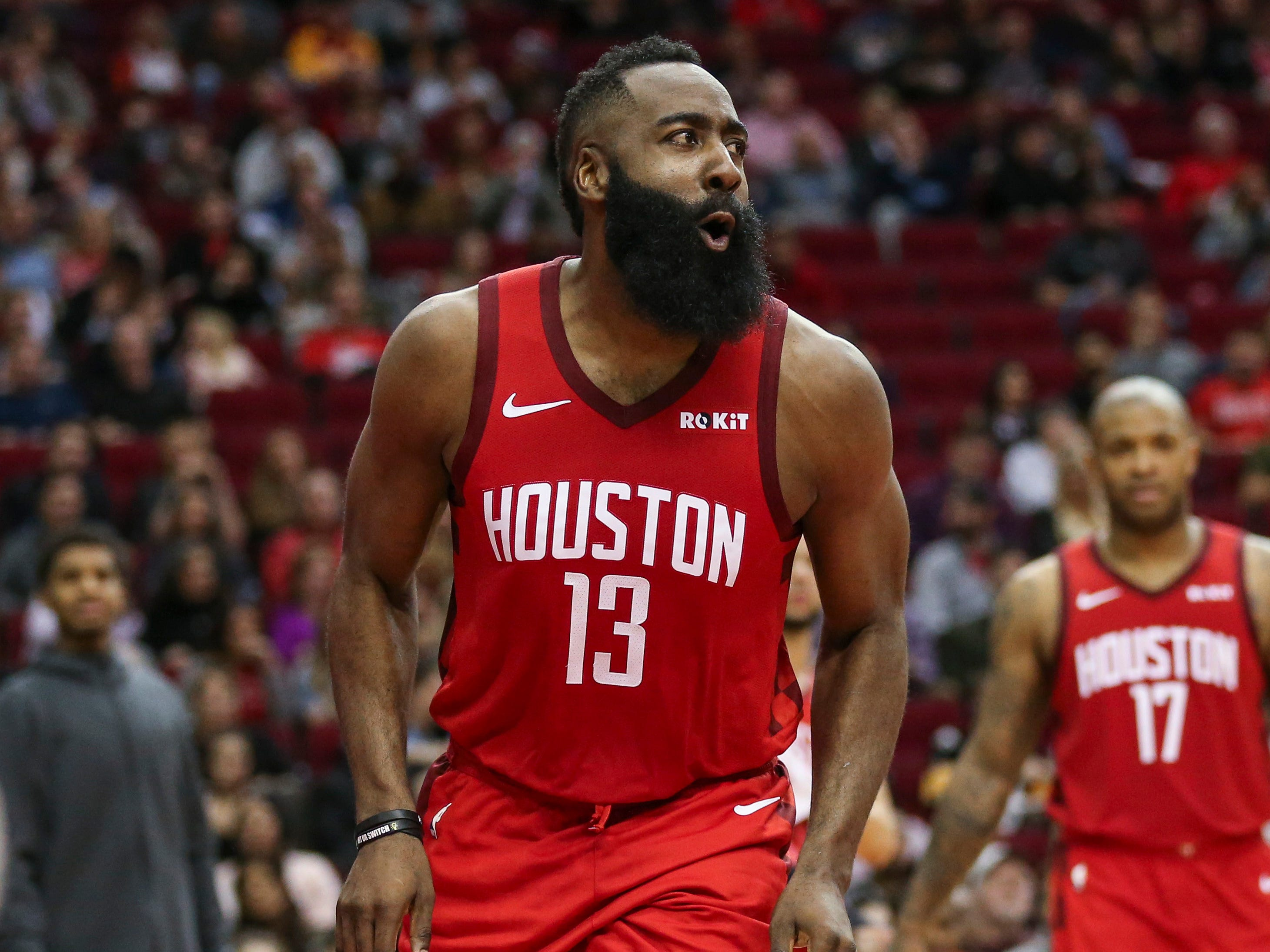 39. James Harden, Rockets (Dec. 31): 43 points, 10 rebounds, 13 assists in 113-101 win over Grizzlies (fourth of season).