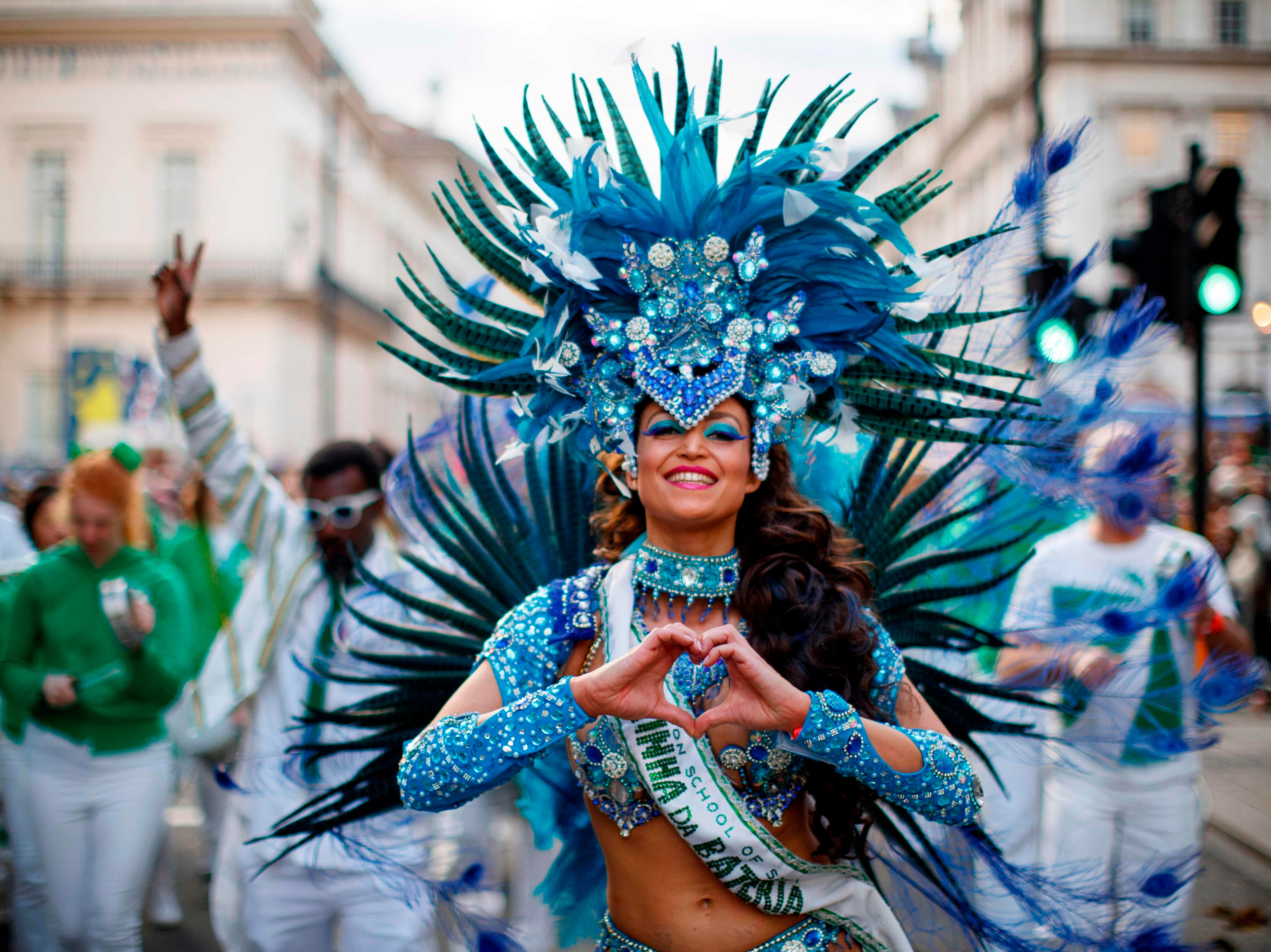 Participants take part in the annual New Year's Day Parade in central London, on Jan. 1, 2019.