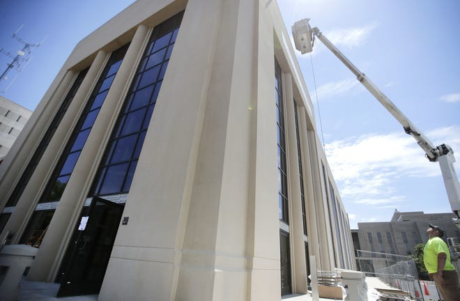 The Outagamie County Jail, housed by the Outagamie County Justice Center in downtown Appleton, will likely be effected by the county's piping project in 2019.