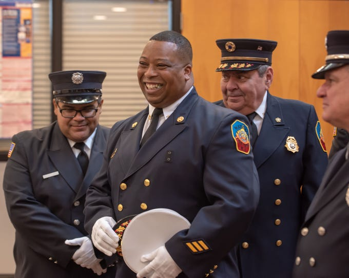 01/01/19- Freddy Benjamin is sworn in as 2nd Deputy Chief  of Matawan Fire Department.
