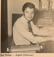 Don Phillips as pictured in Chenango Forks High School's 1970-1971 yearbook.