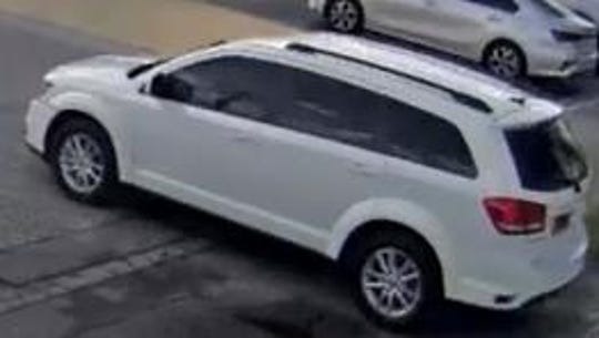 Cocoa police search for burglary suspect driving white SUV.
