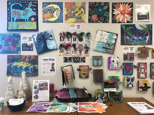 The Promis Creative Arts Center specializes in mixed media and recycled/upcycled art.