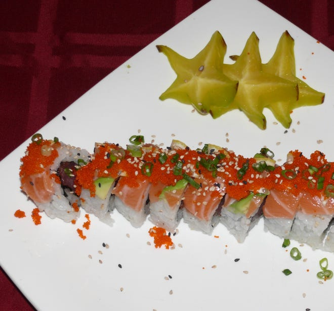 The Key West roll is one of five Florida-themed sushi rolls on the menu at  Banzai Sushi and Thai Restaurant in Melbourne.