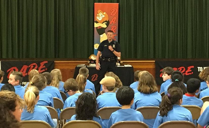 Rick Marcotte Central School DARE graduation shared by the South Burlington police Department D.A.R.E program.