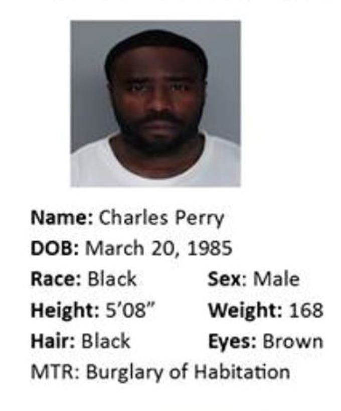 Charles Perry is wanted for motion to revoke: burglary of a habitation. Anyone with information should call Crime Stoppers at 361-888-8477.