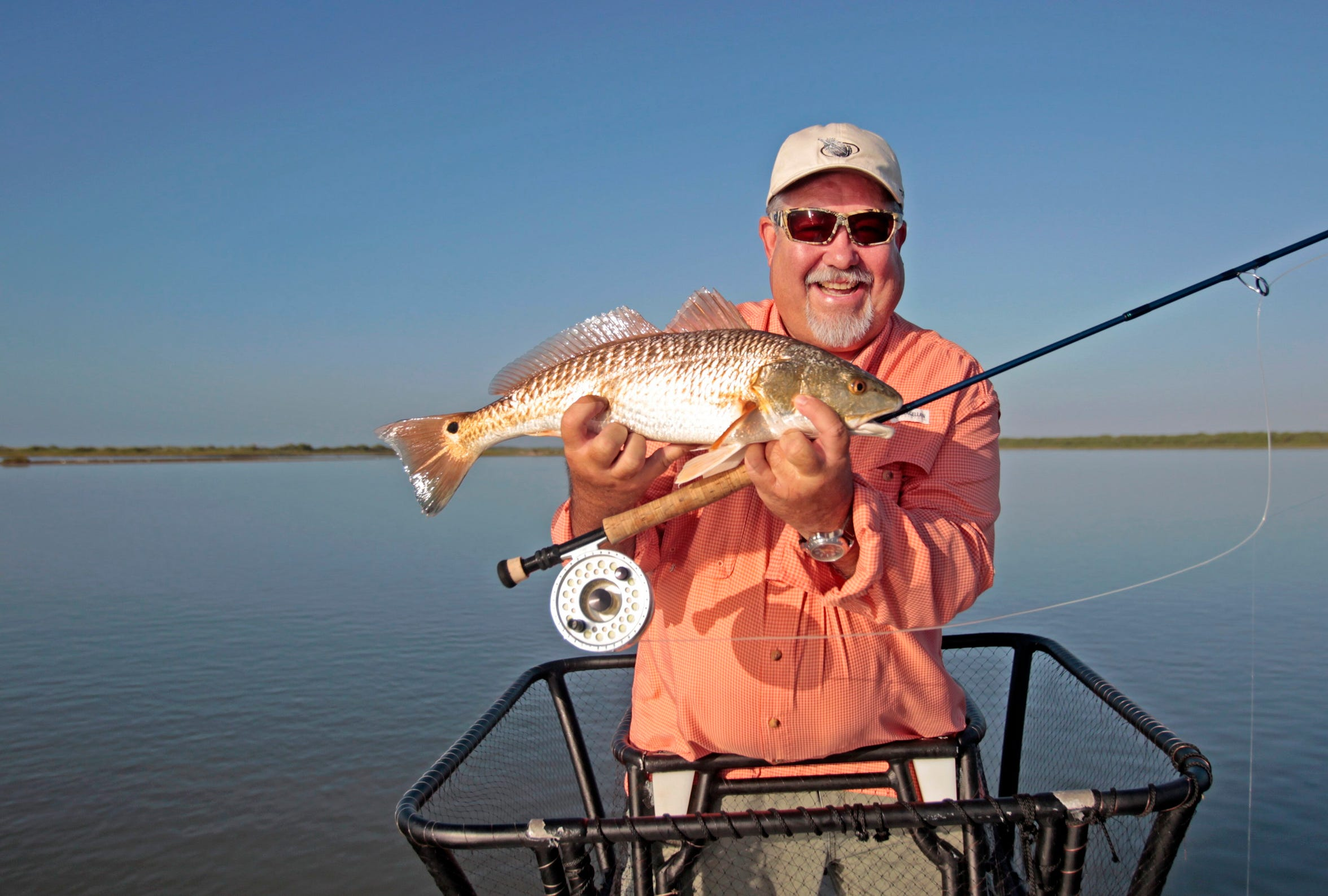Fly fishing near Rockport with Chuck Naiser.