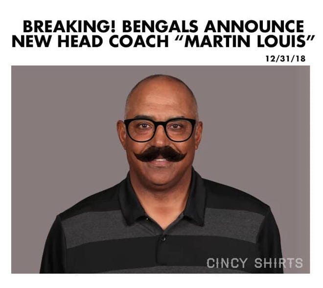 The meme that went viral after it was announced Bengals coach Marvin Lewis was leaving the team.