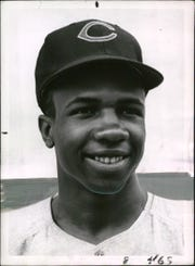 Frank Robinson was 20 when he played his first game for the Cincinnati Reds.