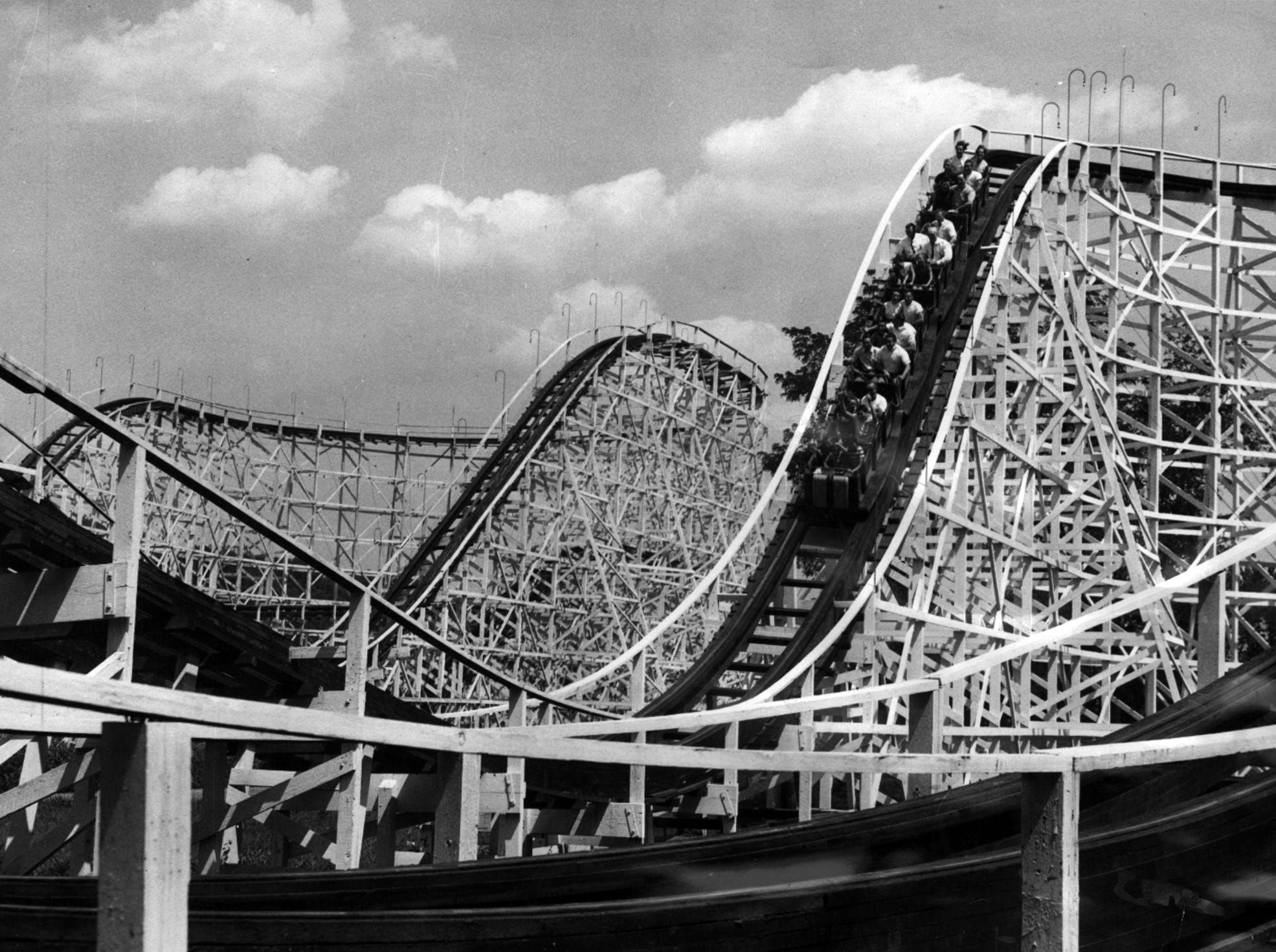 The Wildcat and Shooting Star were in operation at Coney Island.