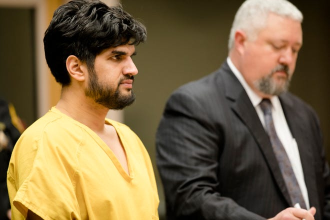 Satwinder Singh appears for his arraignment on Wednesday, Jan. 2, 2019, at the Hamilton County Justice Center in Cincinnati. Singh has been charged with aggravated vehicular homicide after striking a 2-year-old on Sunday. The child died of his injuries on Monday.