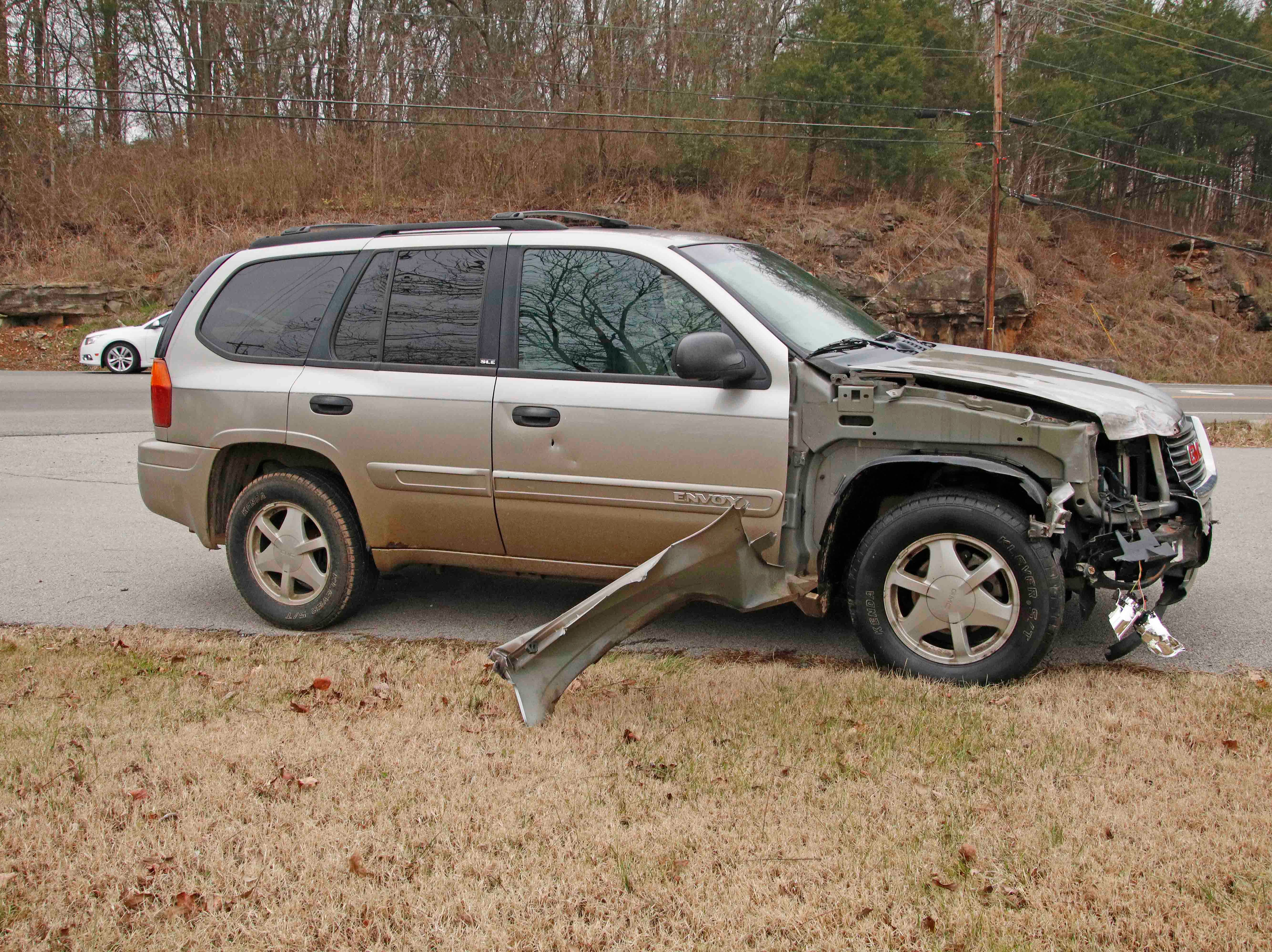 An SUV  driver lost control of her brakes and crashed into a truck on the Bypass Wednesday morning.