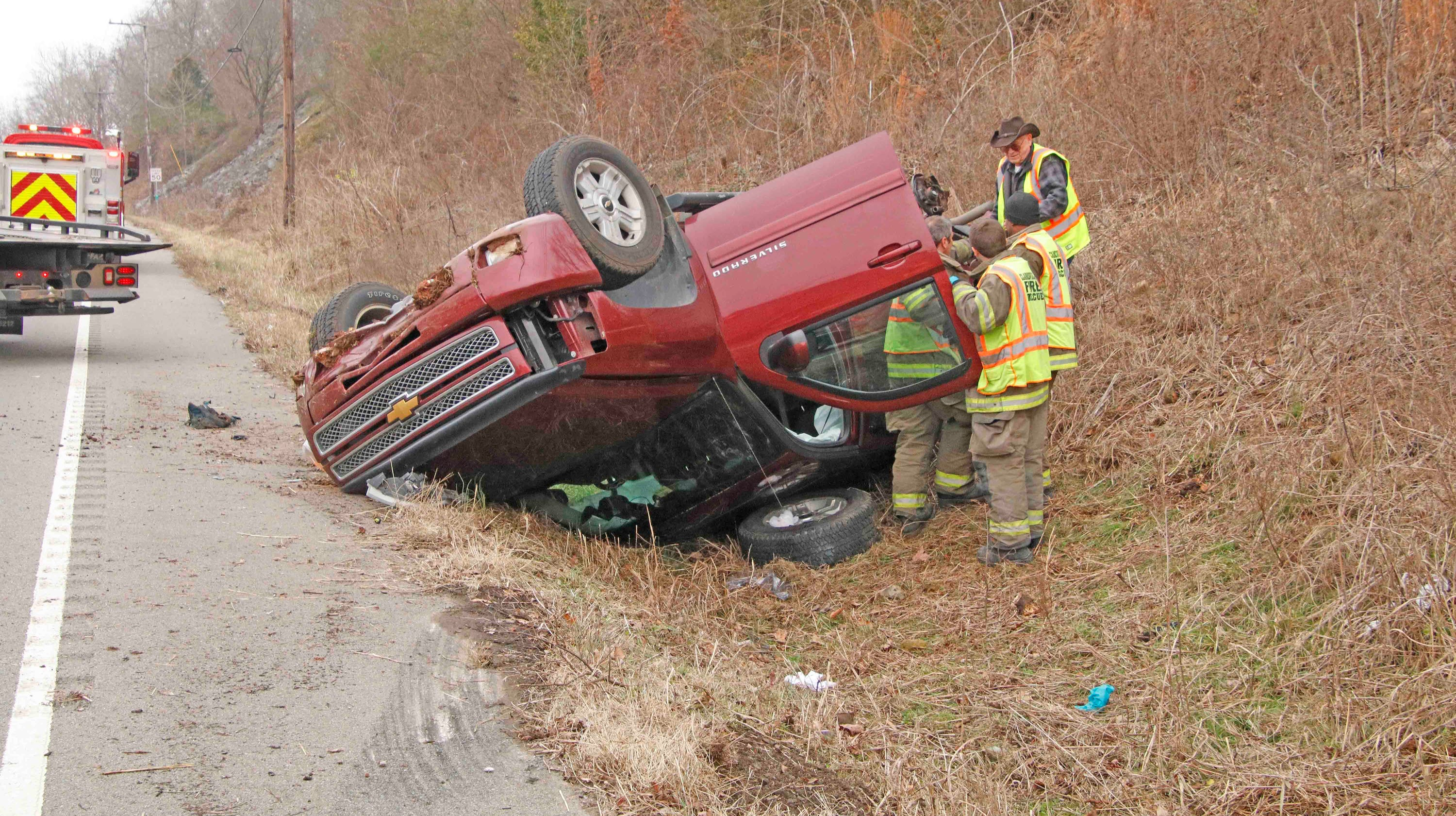 Brakes fail, sending SUV into collision with truck on Bypass