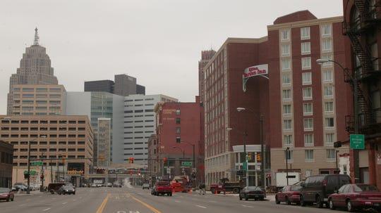 Hilton Garden Inn on Gratiot in downtown Detroit's Harmonie Park district