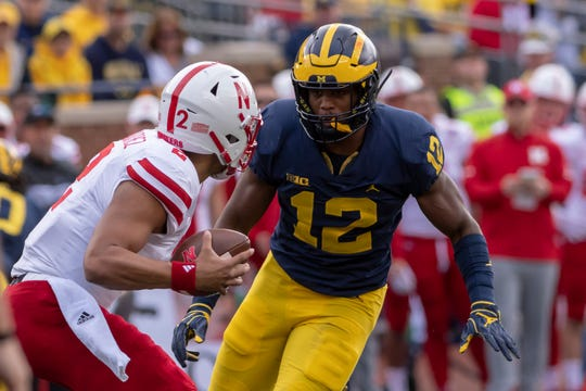 Expect Michigan linebacker Josh Ross (12) to try to fill the void left by Devin Bush.