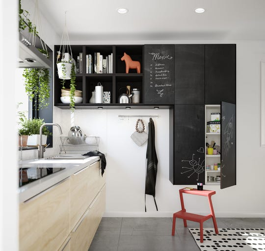 In Scandinavian design, children are integrated into every part of the home. The cabinetry in a Scandinavian style kitchen is both accessible and functional, with simple panels that can be painted with chalkboard paint for little artists.