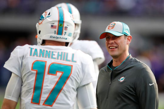 After the Dolphins finished finished 7-9 and missed the playoffs for the 15th time in 17 years, Adam Gase, right, was one of eight NFL head coaches who were fired on Monday.