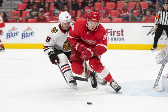 """""""It's like home now. I want to be there and I'm good enough, I think, to be there,"""" says right wing Evgeny Svechnikov."""