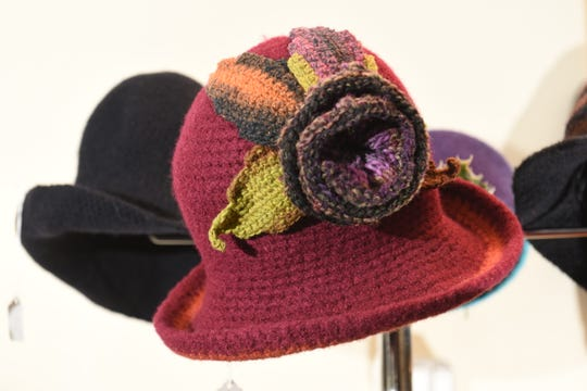 A felted hat by Curvie Jones, owner of Curvie's Hats, Etc., in Ferndale.