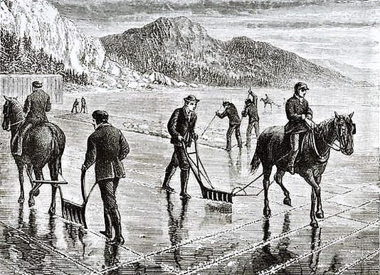 Ice Harvest On The Hudson Rive Hi1