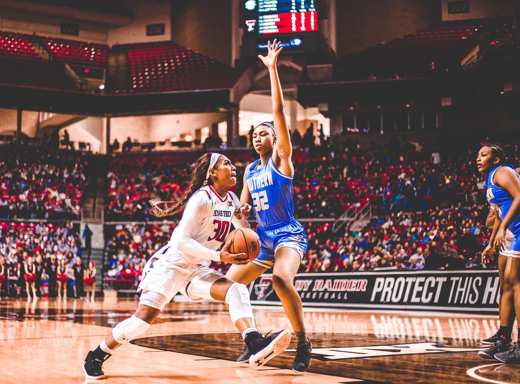 Central graduate Zuri Sanders is a senior at Texas Tech. She leads the Big 12 in rebounding.