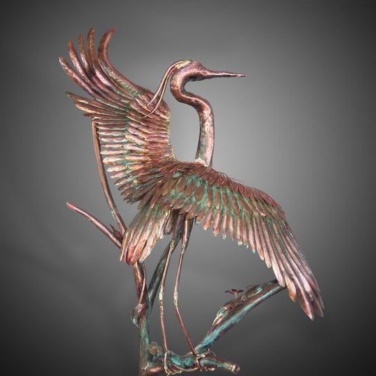 Sculptor Chad Anderson appears Feb. 16-17 at the annual Coconut Point Art Festival.