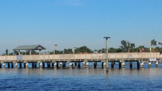The pier at Cape Coral Yacht Club Park.
