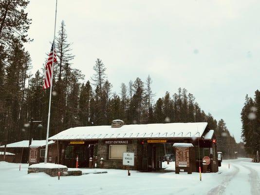 federal government shutdown Glacier