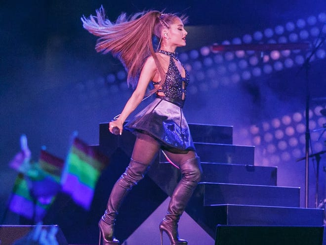 Ariana Grande will perform April 12 at Bankers Life Fieldhouse.