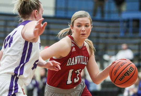 Ella Collier is averaging 22.7 points a game for Danville this season.