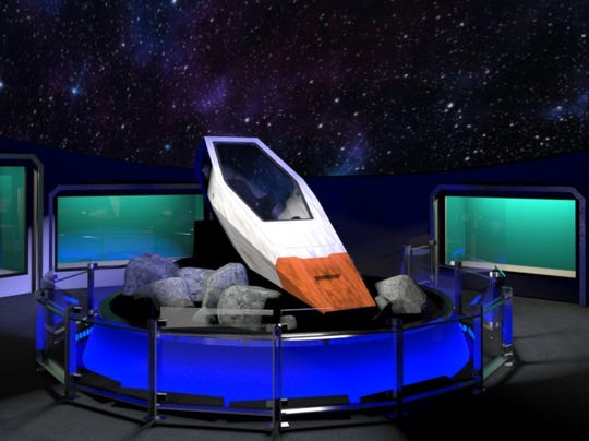 """This Kelvin Pod movie prop seen in 2016 film """"Star Trek: Beyond"""" will be on display at the Children's Museum of Indianapolis."""