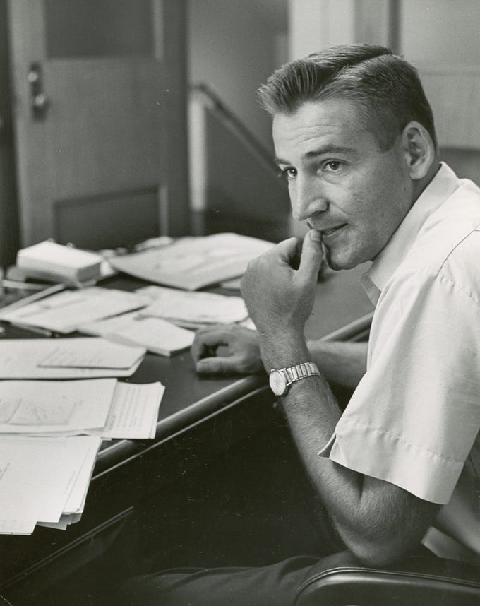Former University of Tennessee football head coach Doug Dickey.