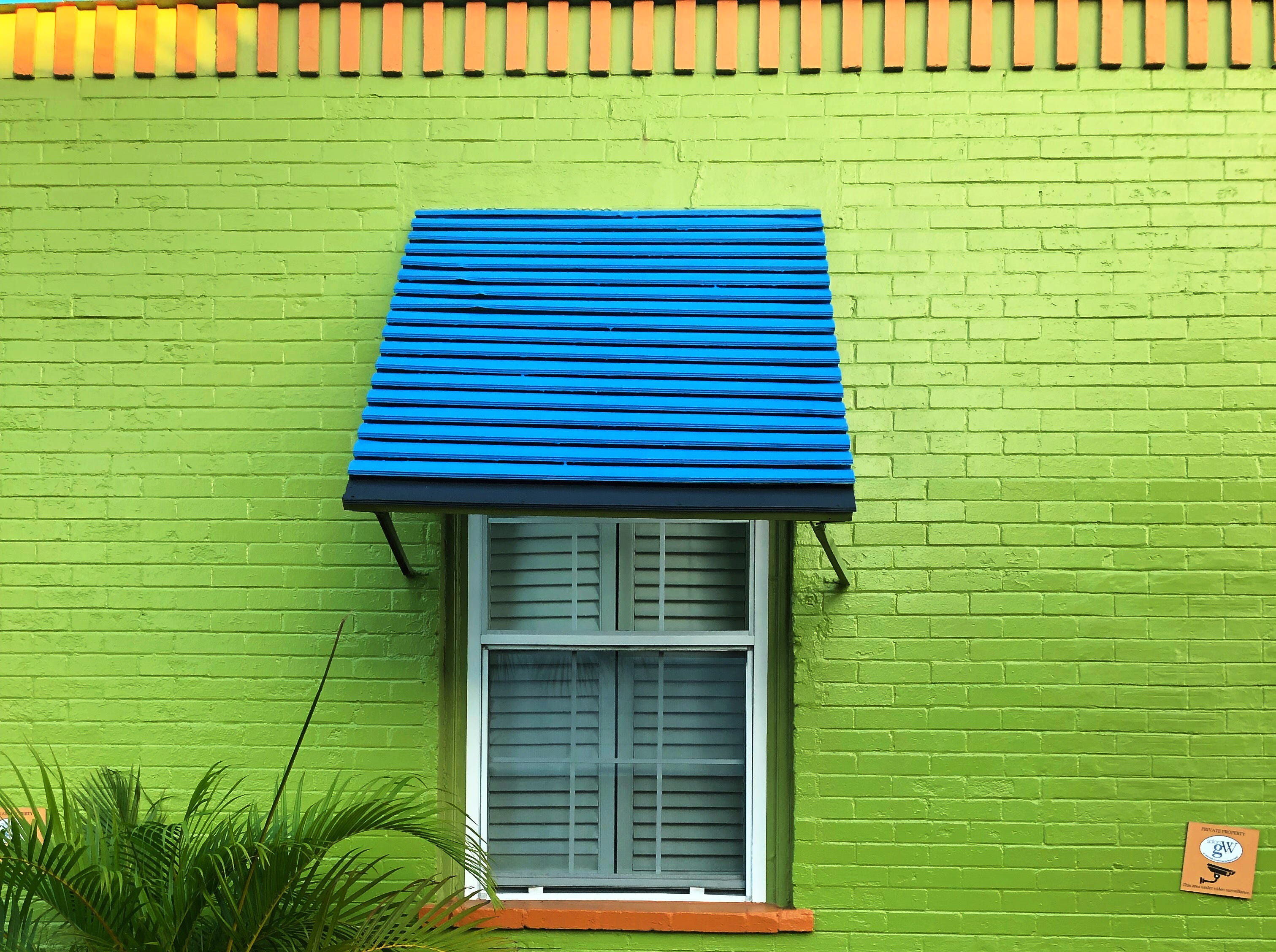 This bright colored building is a reflection of the warm, sunny weather in Dunedin, Fla., even on the last day of December.