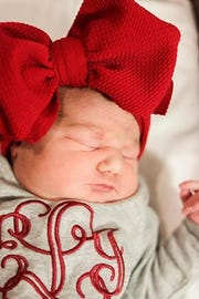 Everlee Irene Lynch was born at 1:10 a.m. on January 1, 2019 at University of Tennessee Medical Center. The baby was the first welcomed at the hospital in the new year.