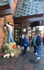 A huge scarecrow on display at the Pancake Pantry in Gatlinburg.